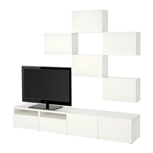 Best ansamblu depozitare tv lappviken alb in sertar nchidere lin ikea - Meuble tv besta blanc ...
