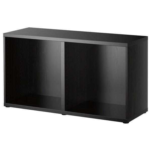 BESTÅ Cadru, negru-maro, 120x40x64 cm