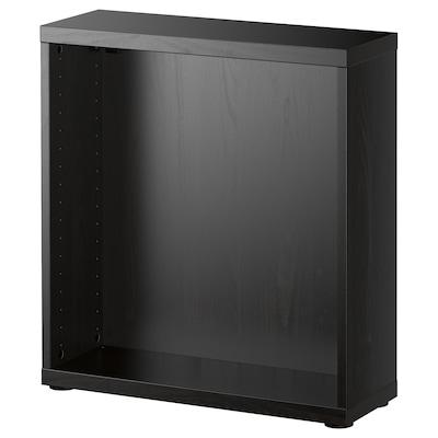 BESTÅ Cadru, negru-maro, 60x20x64 cm