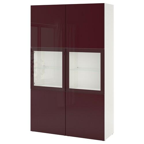 IKEA BESTÅ Ansamblu depozitare+uşi sticlă