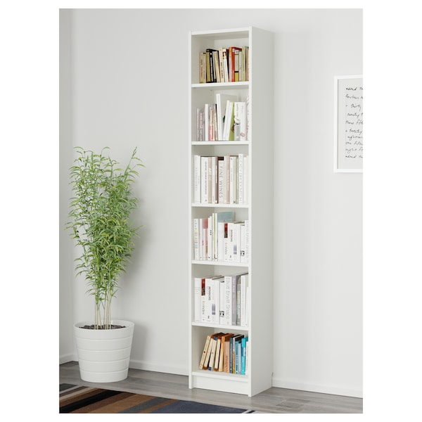 BILLY Bibliotecă, alb, 40x28x202 cm