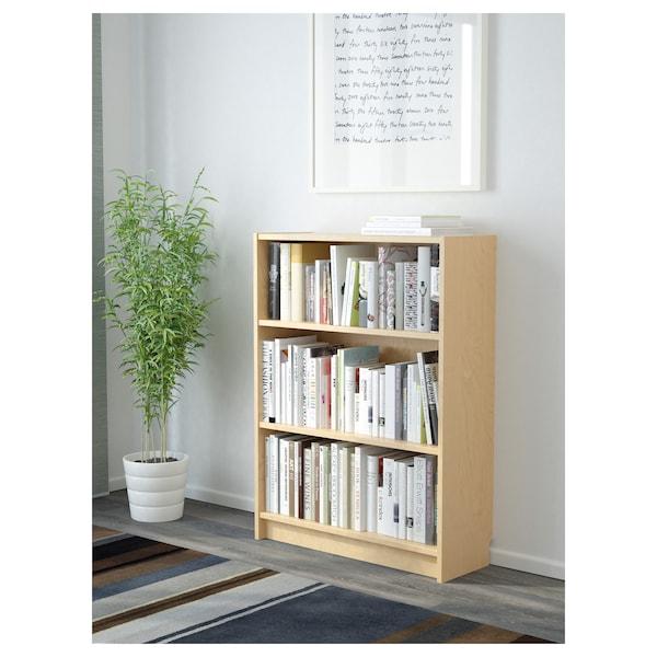 BILLY Bibliotecă, furnir mesteacăn, 80x28x106 cm