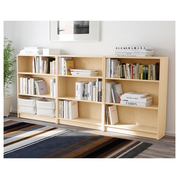 BILLY Bibliotecă, furnir mesteacăn, 240x28x106 cm