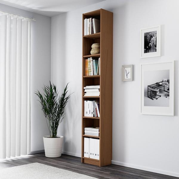 BILLY Bibliotecă, maro furnir frasin, 40x28x237 cm