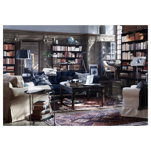 BILLY Bibliotecă, negru-maro, 80x28x202 cm