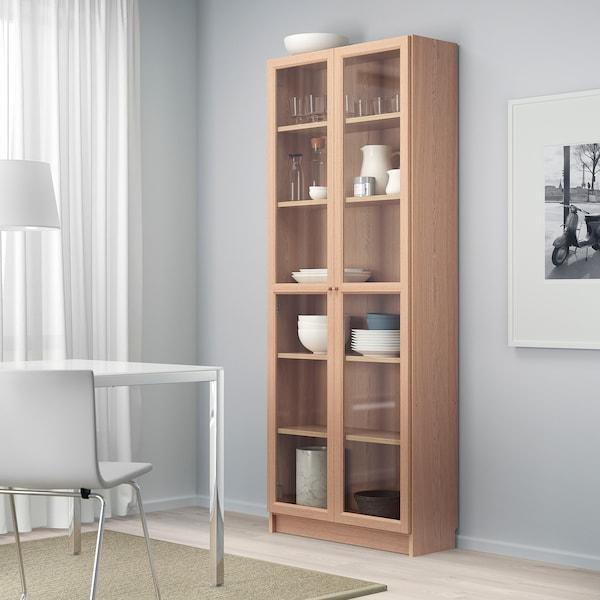 IKEA BILLY / OXBERG Bibliotecă+uşă sticlă