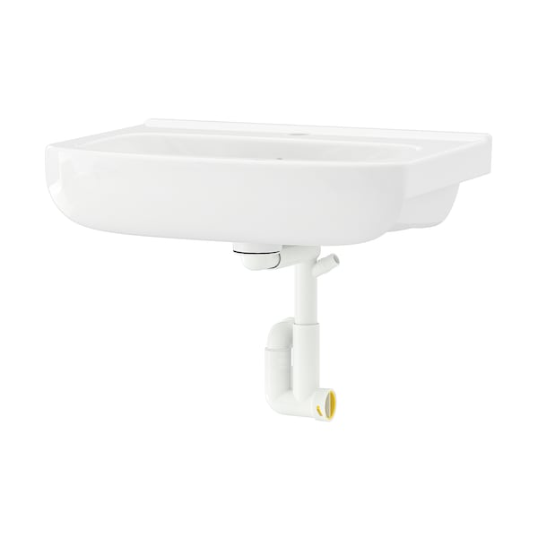 BJÖRKÅN Lavoar cu sifon, alb, 54x40 cm