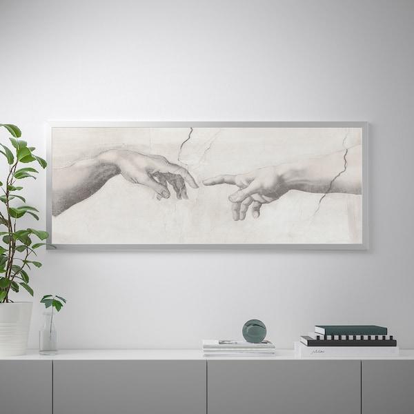 BJÖRKSTA Tablou/ramă, Atingere/aluminiu, 140x56 cm