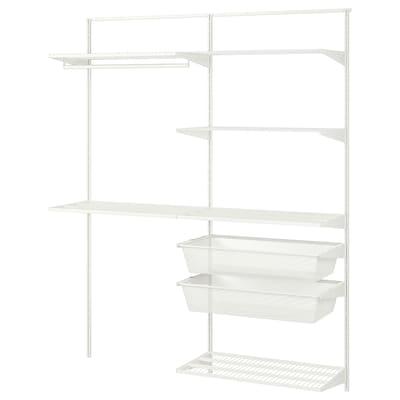 BOAXEL 2 secţiuni, alb, 165x40x201 cm