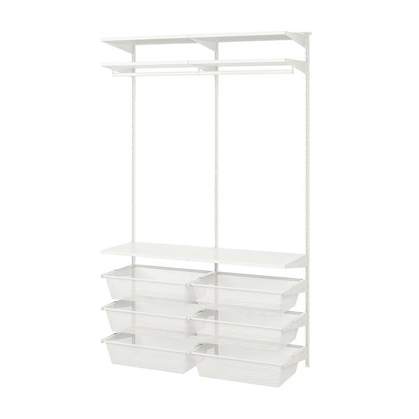 BOAXEL 2 secţiuni, alb, 125x40x201 cm
