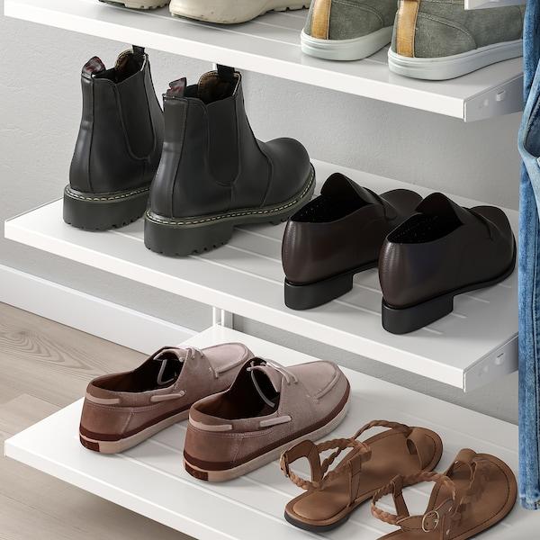 BOAXEL Poliţă pantofi, alb, 60x40 cm