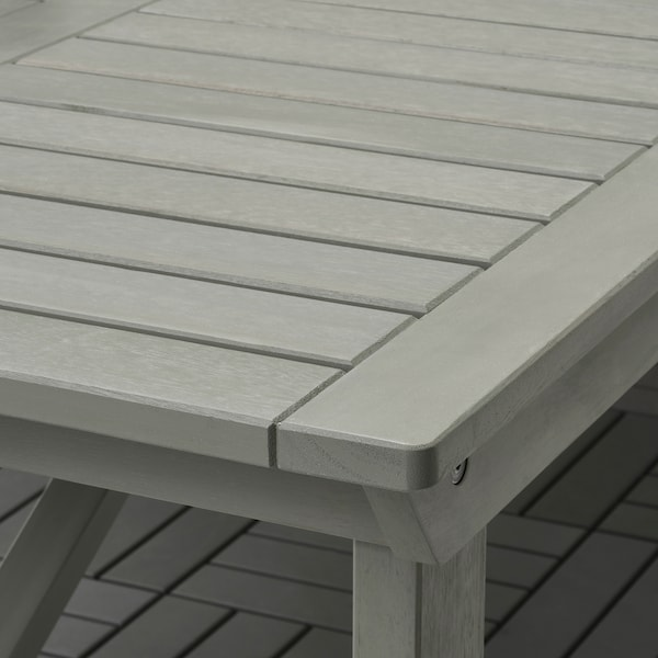 BONDHOLMEN Masă+6 scaune+braţe, exterior, vopsit gri/Frösön/Duvholmen albastru