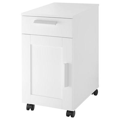 BRIMNES Comodă cu rotile, alb, 35x68 cm