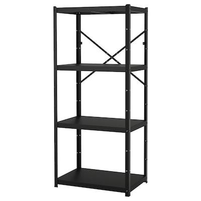 BROR Etajeră, negru, 85x55x190 cm