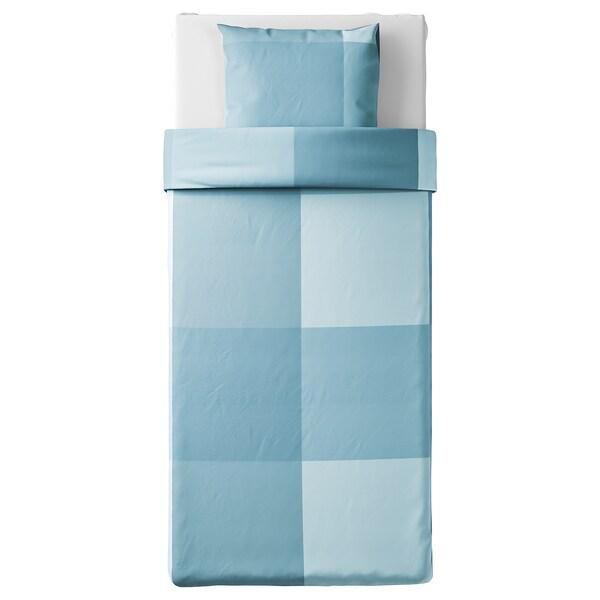 BRUNKRISSLA Husă pilotă+față pernă, bleu, 150x200/50x60 cm