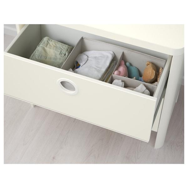 BUSUNGE Comodă 2 sertare, alb, 80x75 cm