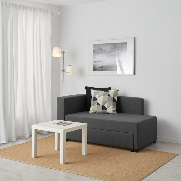 BYGGET Şezlong/canapea extensibilă, Knisa/gri închis cu depozitare