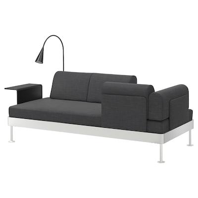DELAKTIG Canapea 3locuri+măsuţă cafea+lampă, Hillared antracit