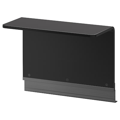 DELAKTIG Măsuţă laterală pentru cadru, negru, 47x22 cm