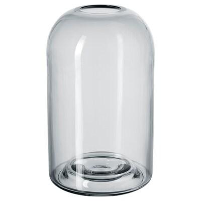 DRÖMSK Vază, gri, 18 cm