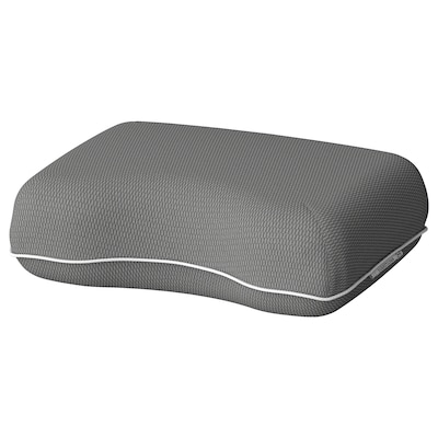DVÄRGTULPAN Pernă de voiaj, gri închis/melanj ergonomic, 30x40 cm