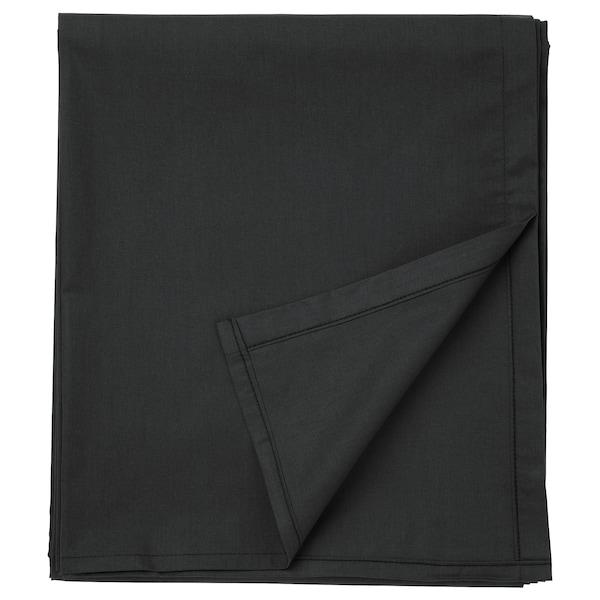 DVALA Cearşaf, negru, 150x260 cm