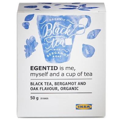 EGENTID Ceai negru, bergamotă/stejar/certificat UTZ/ecologic, 50 g