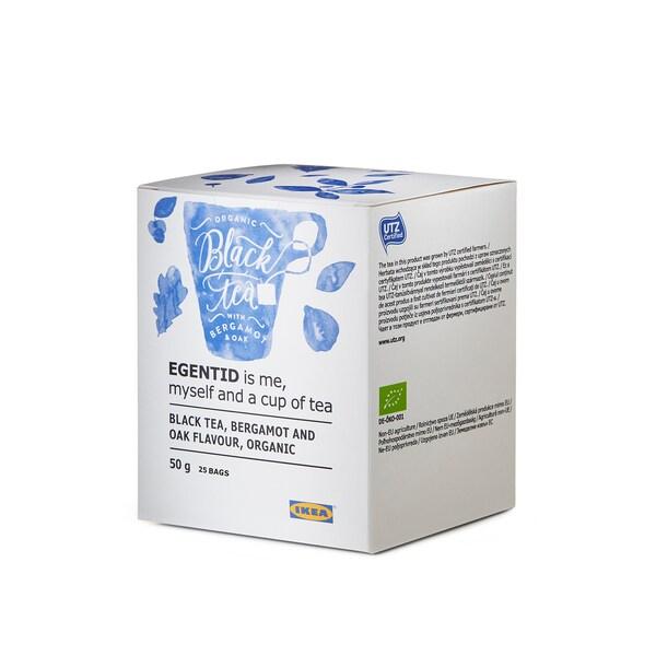 EGENTID Ceai negru, bergamotă/stejar/certificat UTZ/organic, 50 g