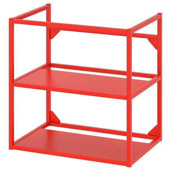ENHET Cadru bază pentru lavoar, roşu-portocaliu, 60x40x60 cm