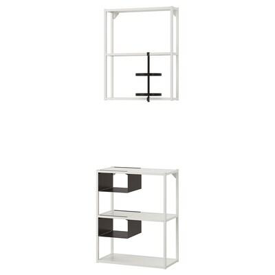 ENHET Combinaţie depoz podea/suspendată, alb, 60x30x150 cm