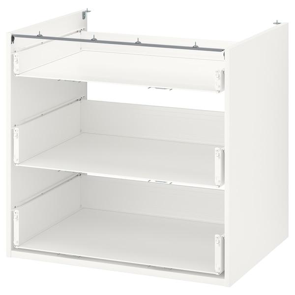 ENHET Corp bază cu 3 sertare, alb, 80x60x75 cm