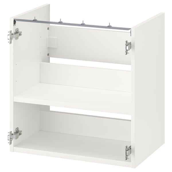 ENHET Corp bază lavoar+poliţă, alb, 60x40x60 cm