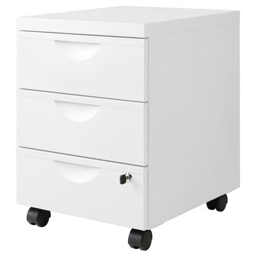 IKEA ERIK Comodă 3 sertare cu rotile