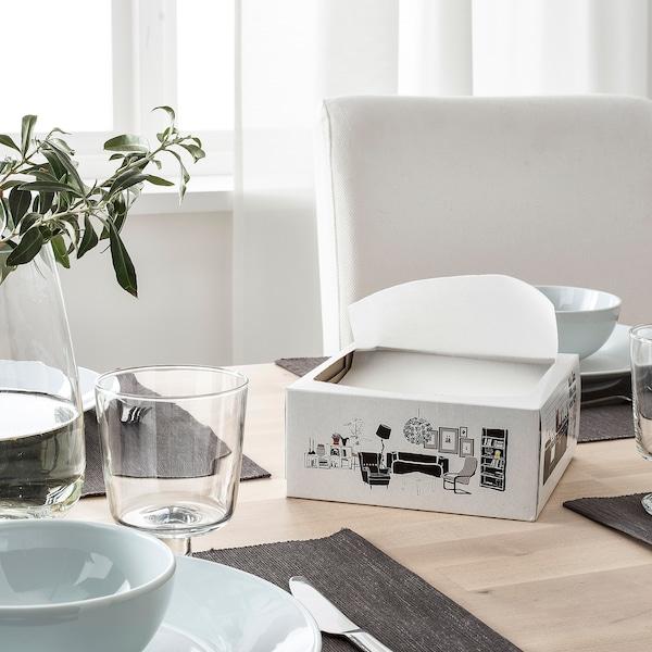 FAMILJ Şerveţel hârtie, alb, 16x32 cm