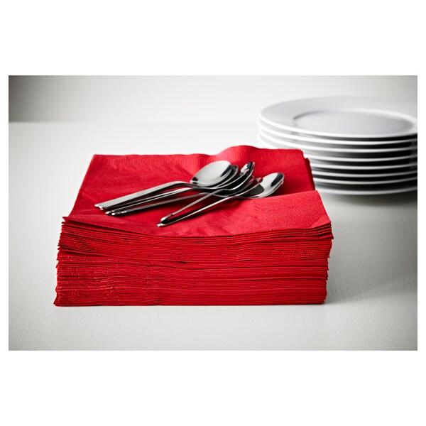 FANTASTISK Şerveţel hârtie, roşu, 40x40 cm