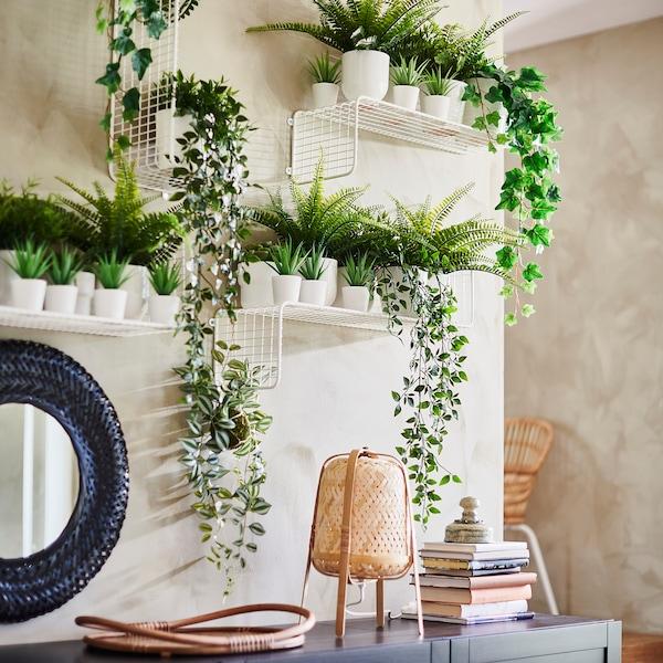 FEJKA Plantă artificială în ghiveci, interior/exterior Succulent, 6 cm