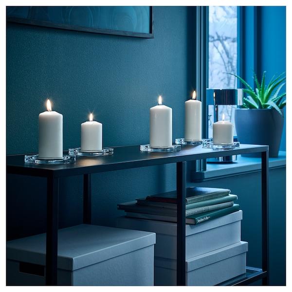 FENOMEN Set lumânări bloc, 5buc, alb