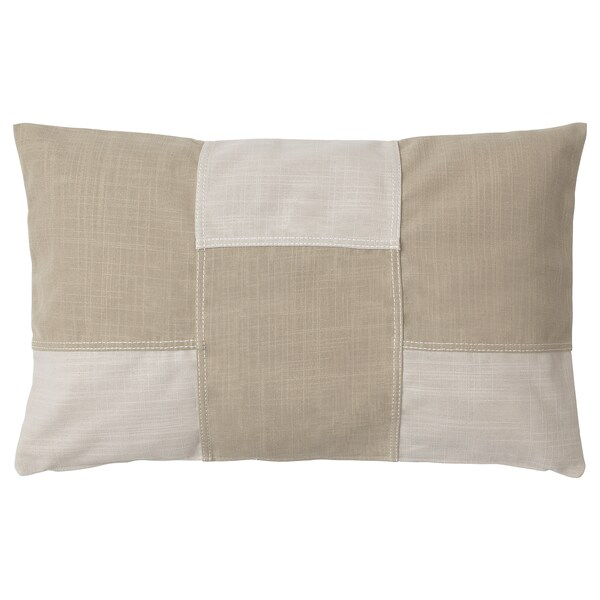FESTHOLMEN Faţă pernă, interior/exterior/bej deschis bej, 40x65 cm