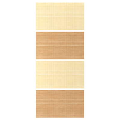 FJELLHAMAR 4 panouri/cadru uşă glisantă, bambus/2 feţe, 100x236 cm