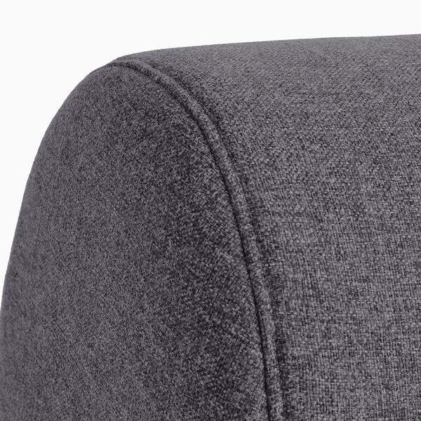 FLOTTEBO Canapea extensibilă, Gunnared gri mediu, 120 cm