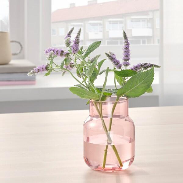 FÖRENLIG Vază, roz, 11 cm