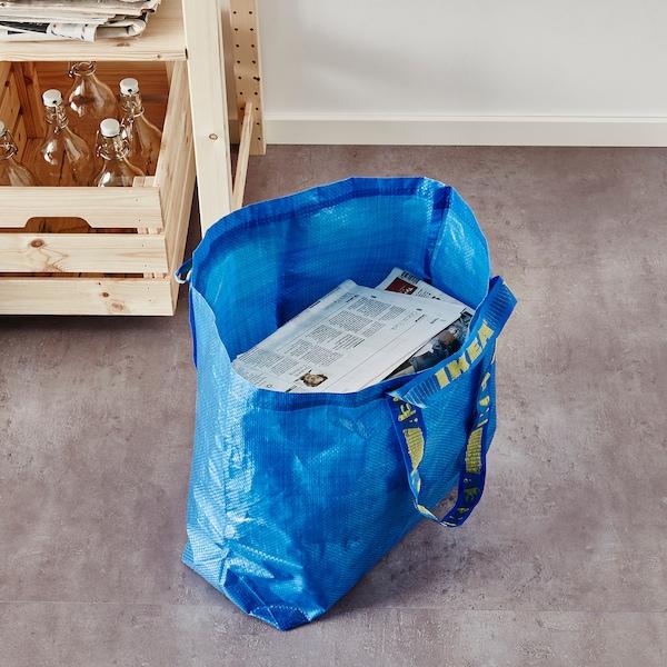 FRAKTA Sacoşă medie, albastru, 45x18x45 cm/36 l