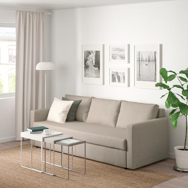 FRIHETEN Canapea extensibilă 3 locuri, Hyllie bej