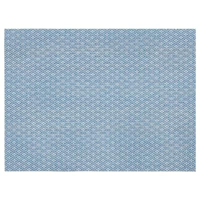 GALLRA Suport farfurie, albastru/cu model, 45x33 cm