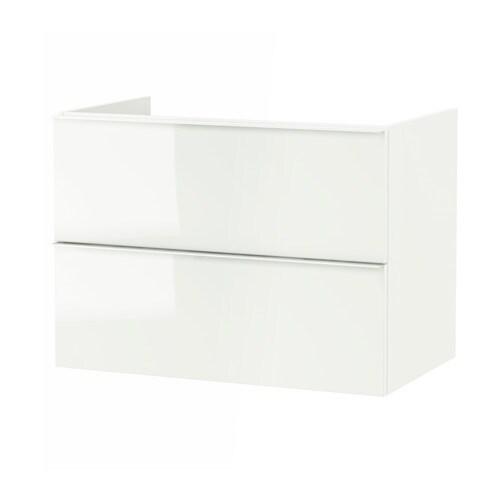 lavoar baie ikea ~ godmorgon mască lavoar+2sertare  luc alb, 80x47x58 cm  ikea