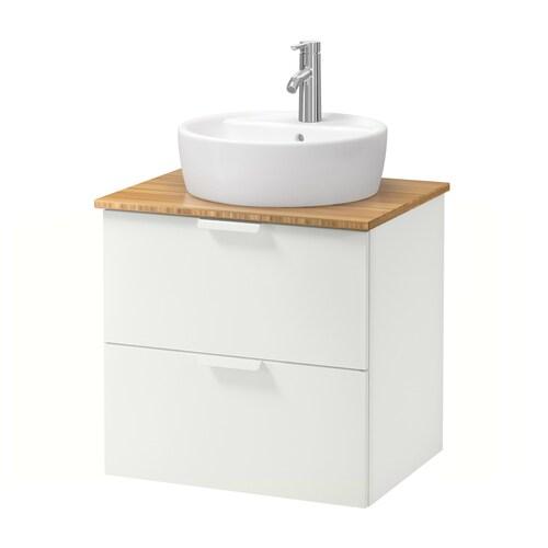 IKEA GODMORGON/TOLKEN / TÖRNVIKEN Corp lavoar+blat+lavoar 45 cm