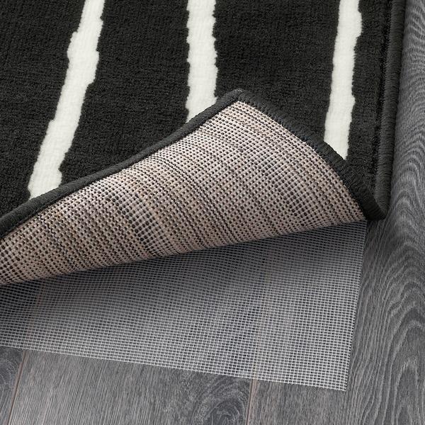 GÖRLÖSE Covor, fir scurt, negru/alb, 133x195 cm