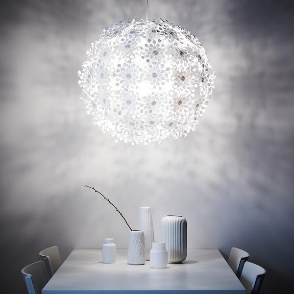 GRIMSÅS Lustră, alb, 55 cm