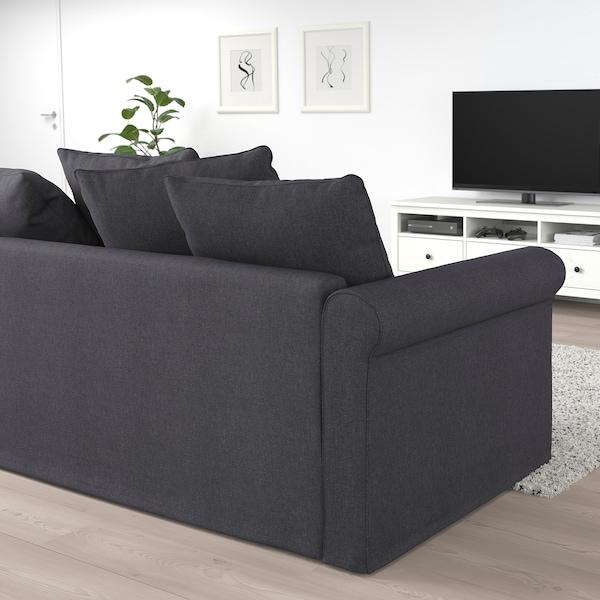GRÖNLID Canapea 2 locuri+pat, Sporda gri închis