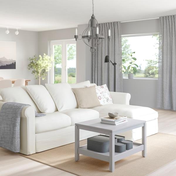 GRÖNLID Canapea 3 locuri cu şezlong, Inseros alb